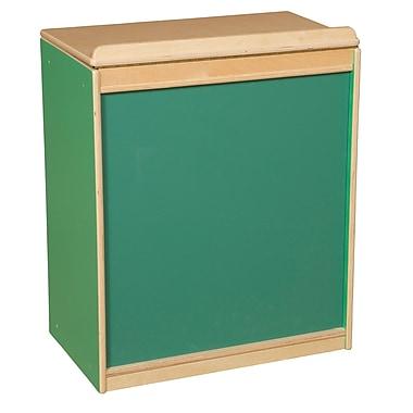 Wood Designs Literacy 24'' 1-Shelf Bookcase, Green (WD34100G)