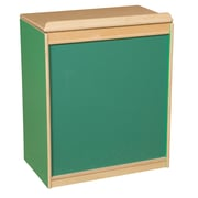 Wood Designs Literacy 24'' 1-Shelf Bookcase, Green (WD34100G)