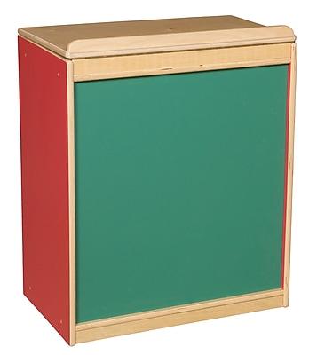 Wood Designs Literacy 24'' 1-Shelf Bookcase, Red (WD34100R)