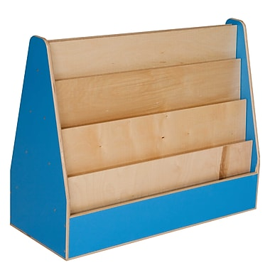Wood Designs Literacy 30'' 4-Shelf Bookcase, Blue (WD34200B)