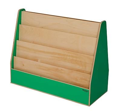 Wood Designs Literacy 30'' 4-Shelf Bookcase, Green (WD34200G)