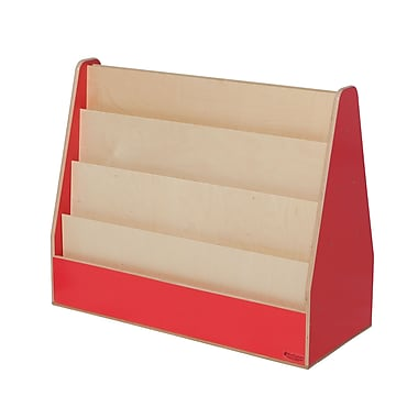 Wood Designs Literacy 30'' 4-Shelf Bookcase, Red (WD34200R)