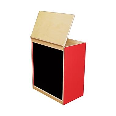 Wood Designs Literacy 24'' 1-Shelf Bookcase, Red (WD44100R)