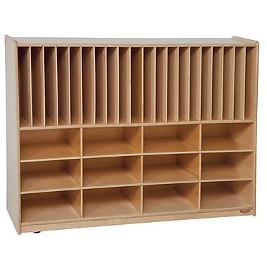 Wood Designs™ Tip-Me-Not™ Portfolio Storage Without Trays, Natural Wood