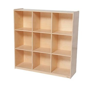 Wood Designs™ Storage Nine Big Cubby Storage, Birch