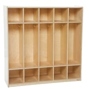 """Wood Designs™ 48""""W Five Section Lockers"""