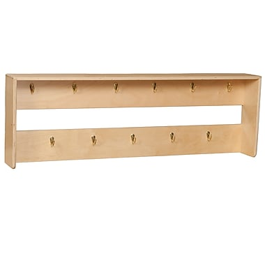 Wood Designs™ Wall Mount Locker With 11 Coat Hooks, Birch
