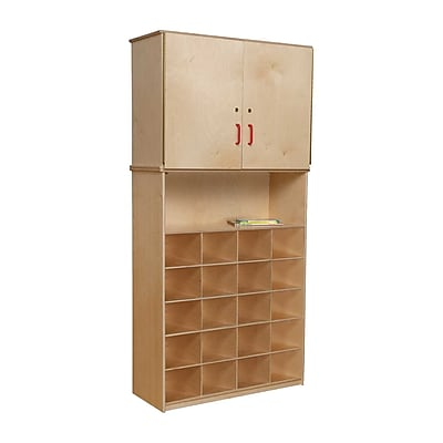 Wood Designs 20 Tray Vertical Storage Cabinet Without Trays, Birch