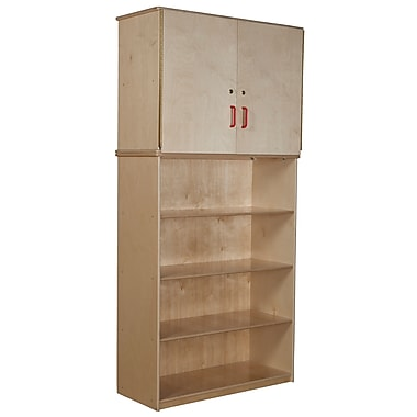 Wood Designs™ Vertical Storage Cabinet With Shelving Base, Birch