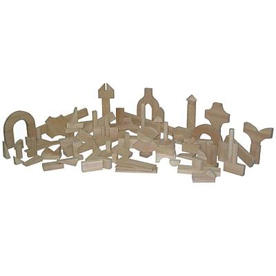 Wood Designs™ Hardwood Preschool Block Set, 111 Pieces