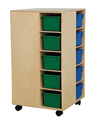 Wood Designs™ Cubby Spinner With Assorted Trays, Birch