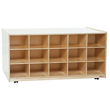 Wood Designs 30 Tray Mobile Island Without Trays, Birch