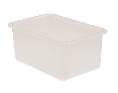 Wood Designs™ Plastic Cubby Tray, Translucent