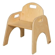 "Wood Designs™ 11""(H) Plywood Woodie Chair, Natural"