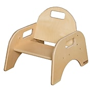 "Wood Designs™ 5""(H) Plywood Woodie Chair, Natural, 2/Pack"