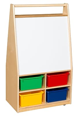 Wood Designs™ Magnetic Art Center With 4 Assorted Trays, Birch