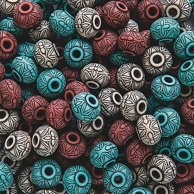 S&S® Moroccan Clay Bead Assortment Bag, 150/Bag