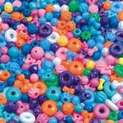 S&S® Bright Color Bead Mix Bag, 800/Bag