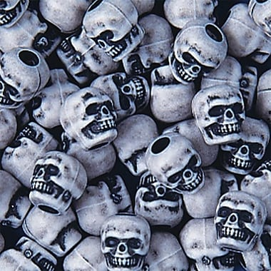 S&S® White Skull Beads Bag