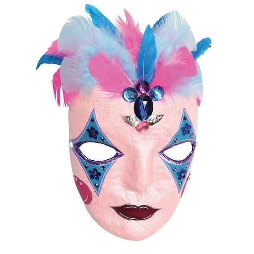 S&S® Paper Mache Mask, 12/Pack