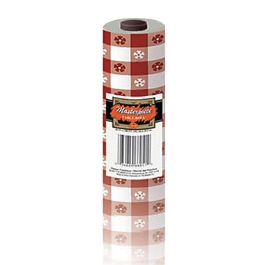 S&S® Gingham Plastic Table Cover Roll, Red