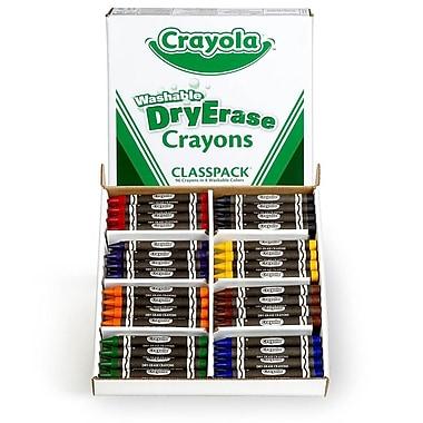 Crayola® Washable Dry-Erase Crayons, 96/Box