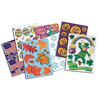 S&S SL1352 Straight Holiday Window Clings, Multicolor