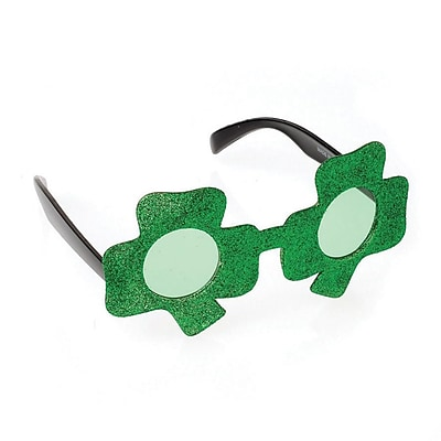 S&S® Shamrock Sunglasses, Green, 12/Pack