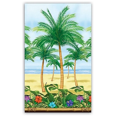 S&S SL5341 40' x 4' Straight Palm Tree Room Roll, Multicolor