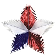 "S&S® 16"" Foil Patriotic Starburst, 12/Pack"