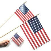 """S&S® 12"""" x 18"""" Cotton US Flags, 12/Pack"""