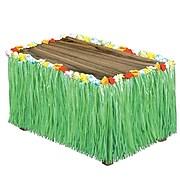 """S&S® 9' x 32"""" Flowered Raffia Table Skirt"""