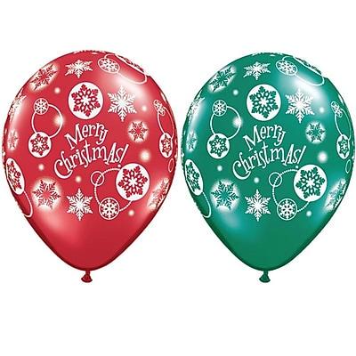 Pioneer Balloon Merry Christmas Latex Balloon, 50/Pack