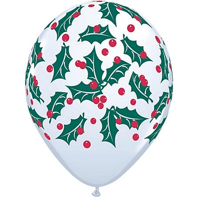 Pioneer Balloon Holly Berry Latex Balloon, 50/Pack