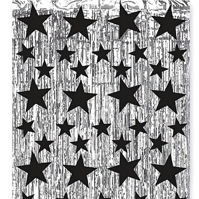 S&S® 8' x 3' Metallic Star Party Curtain