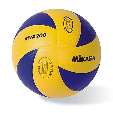 Mikasa® Championship Series FIVB Indoor Volleyball, Size 5, Blue/Yellow