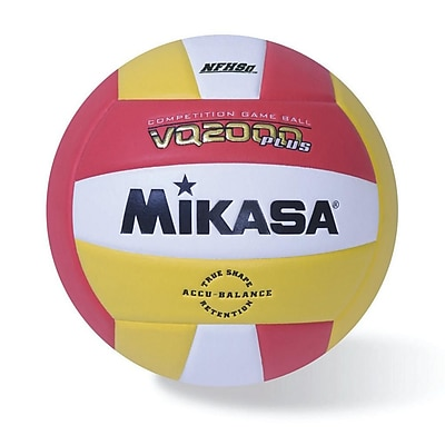 Mikasa® Premier Series Indoor Competition Volleyball, Scarlet/Gold