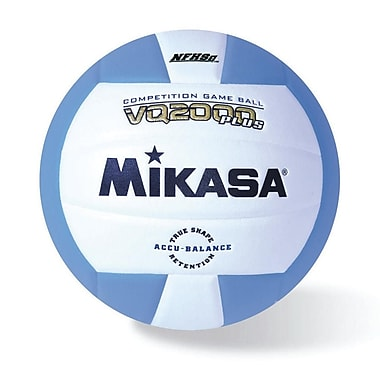 Mikasa® Premier Series Indoor Competition Volleyball, Columbia Blue/White