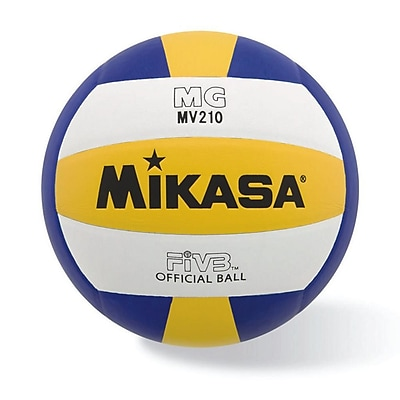 Mikasa® Varsity Series Indoor Volleyball, Blue/Gold/White