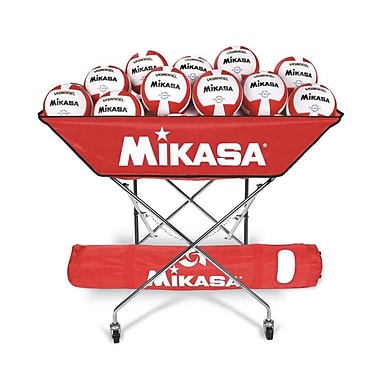 Mikasa® Hammock-Style Volleyball Cart, Scarlet