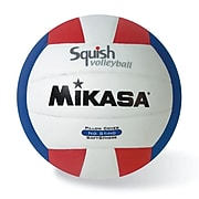 Mikasa® Squish Series Volleyball, Red/White/Blue