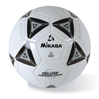 Mikasa® Varsity Series Soft Soccer Ball, Size 5, Black/Grey/White