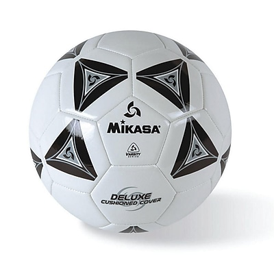 Mikasa® Varsity Series Soft Soccer Ball, Size 3, Black/Grey/White