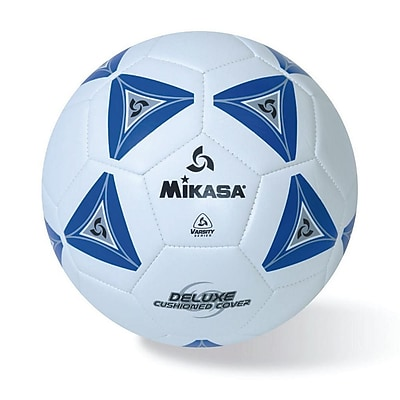 Mikasa® Varsity Series Soft Soccer Ball, Size 5, Blue/Grey/White