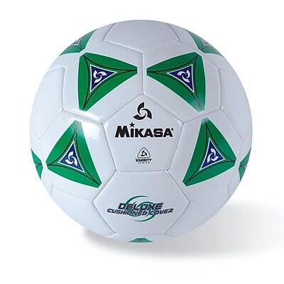 Mikasa® Varsity Series Soft Soccer Ball, Size 4, Green/Blue/White