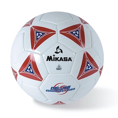 Mikasa® Varsity Series Soft Soccer Ball, Size 4, Red/Blue/White