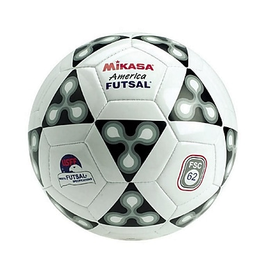 Mikasa® Indoor Series America Futsal® Soccer Ball, Size 4, Black/White