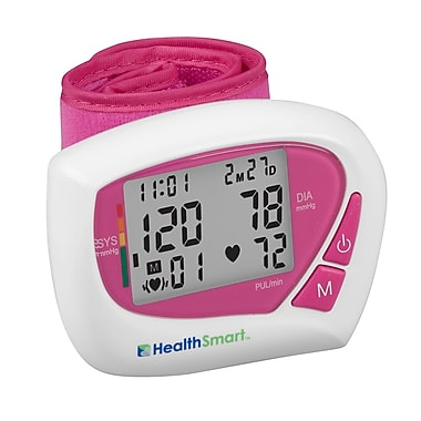 Briggs Healthcare Digital Wrist Blood Pressure Monitor Pink