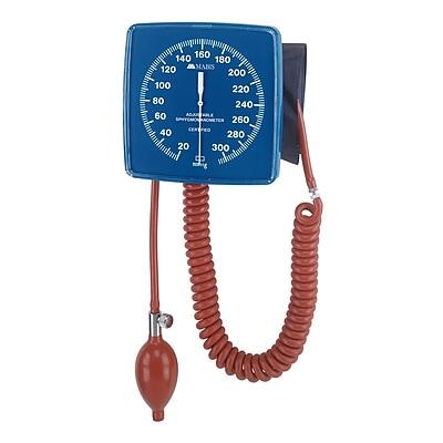 Briggs Healthcare Legacy Adjustable Clock Aneroid Sphygmomanometer Wall-Mounted Blue