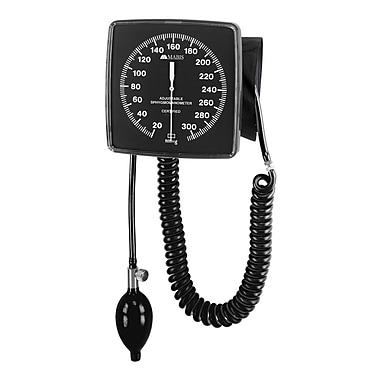 Briggs Healthcare Legacy Adjustable Clock Aneroid Sphygmomanometer Wall-Mounted Black